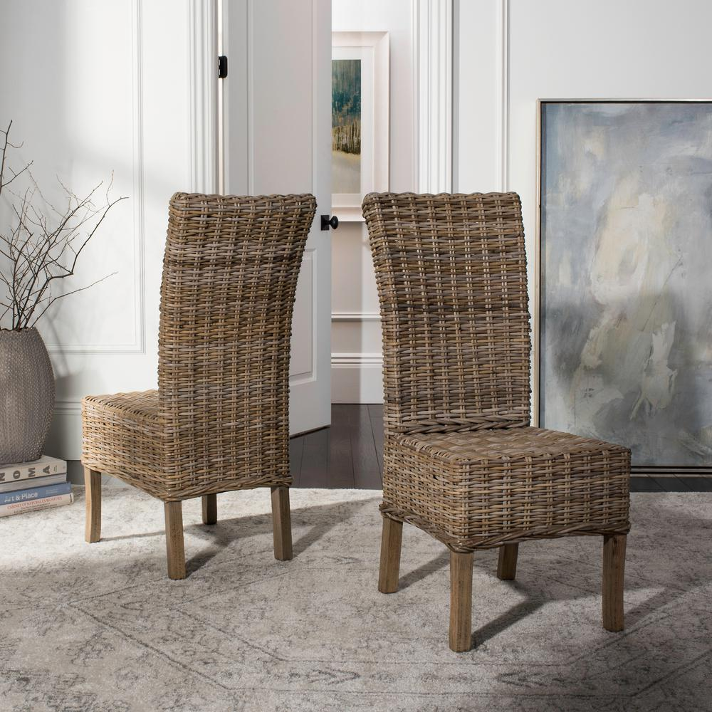 Safavieh Quaker Natural Unfinished Mango Wood Side Chair (Set Of 2)