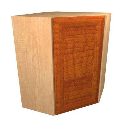 Dolomiti Ready to Assemble 24 x 30 x 12 in. Wall Cabinet with 1 Soft Close Door in Cognac