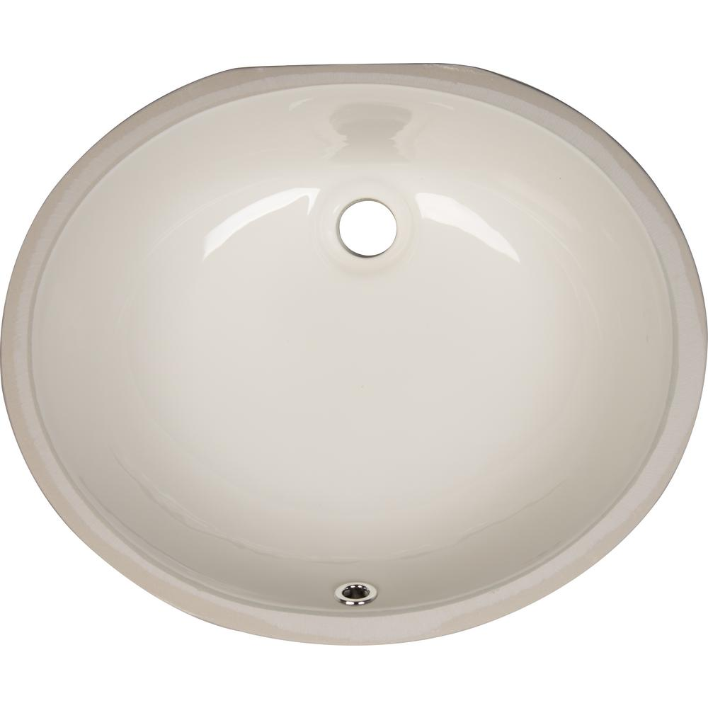 Msi Undermount Porcelain Ceramic Bathroom Sink In Bisque Oval Undovlbisq 1714 The Home Depot