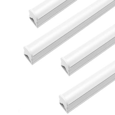 4 ft. 50-Watt Equivalent T5 Integrated LED Linkable Silver Shop Light Ceiling Light FIxture 4100K (4-Pack)