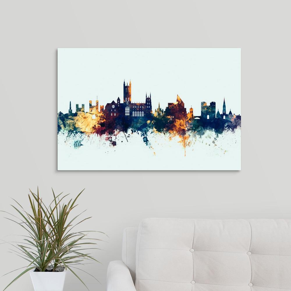 GreatBigCanvas ''Canterbury England Skyline'' by Michael Tompsett Canvas Wall Art