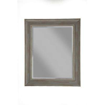 Antique Grey Farmhouse Wall Mirror