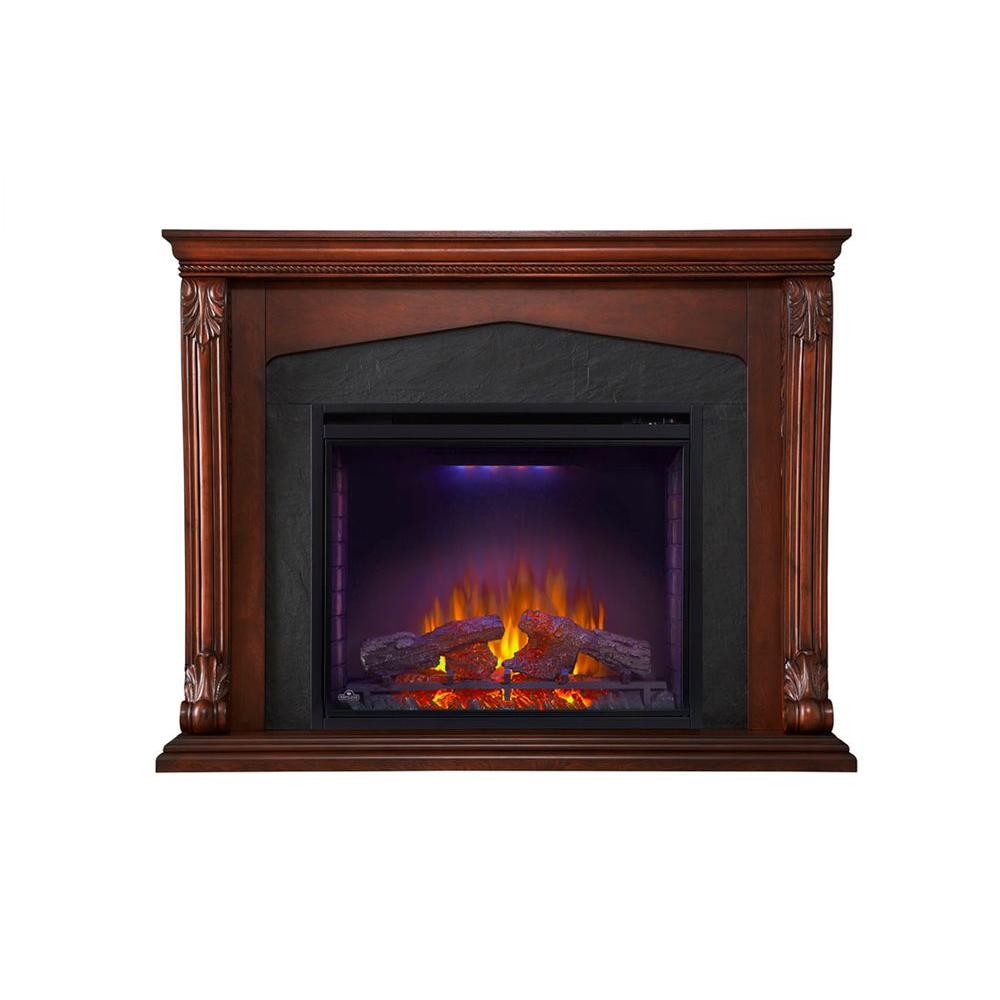 Monroe 57.5 in x 45 in. Mantel with 34 in. Firebox