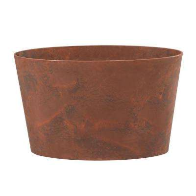 Napa 26 in. x 11 in. Oval Teak Resin Planter