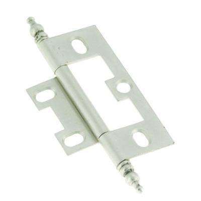 2-1/2 in. x 1-1/2 in. Satin Nickel Furniture Barrel Hinge