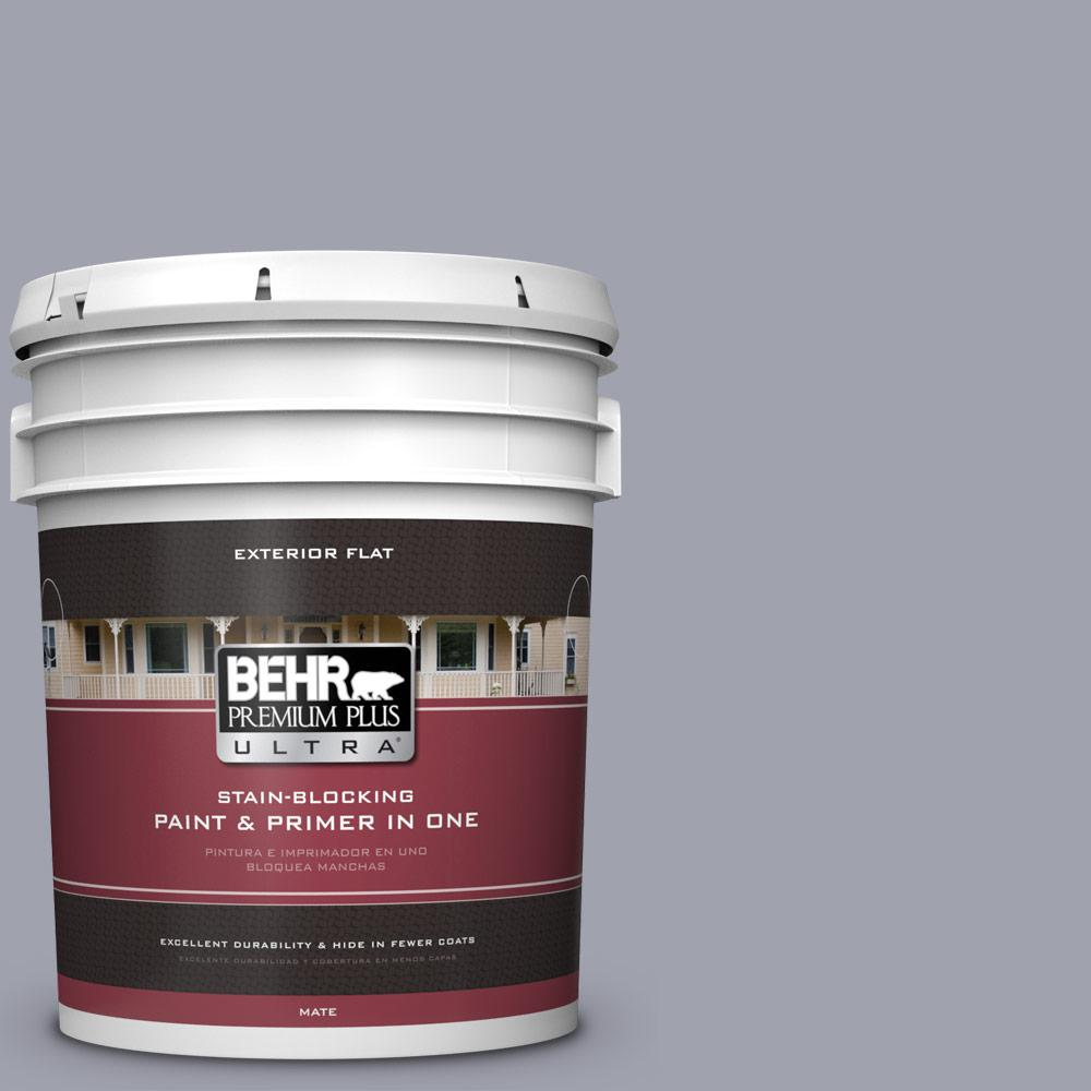 Behr Premium Plus Ultra 5 Gal Mq5 8 Masterpiece Flat Exterior Paint And Primer In One 485405