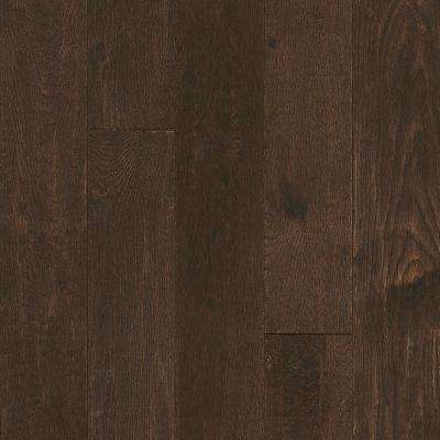 Take Home Sample - Oak Sculpted Brown Harmony Solid Hardwood Flooring - 5 in. x 7 in.