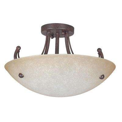 Fiscus 2-Light Oil Rubbed Bronze Semi Flushmount