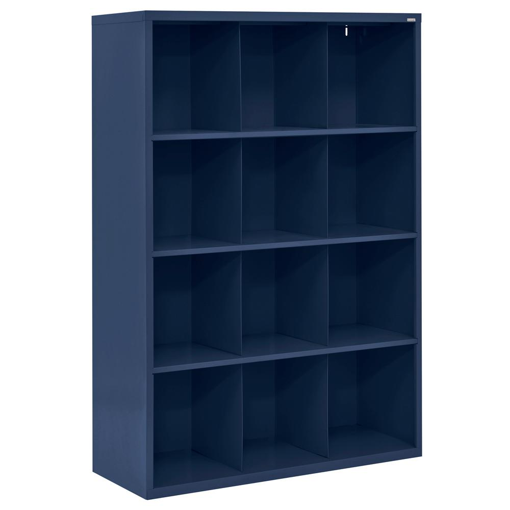Cubby 46 in. x 66 in. Navy Blue 12-Cube Organizer