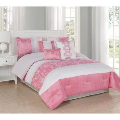 Studio 17 Blossom 7-Piece Queen Comforter Set