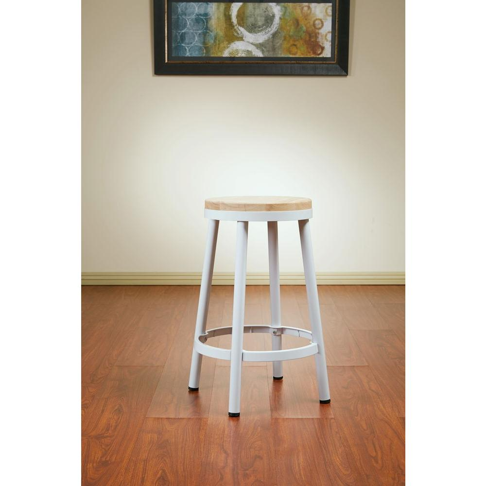 OSP Designs Bristow 26.25 in. White Bar Stool-BRW3226-11 - The Home ...