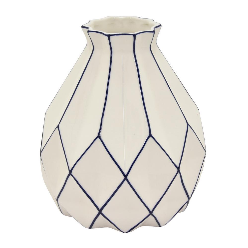 8.25 in. Porcelain White Vase