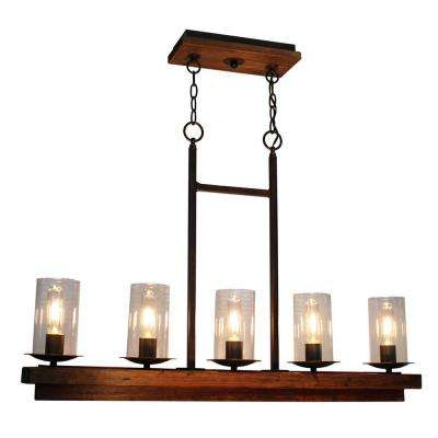 5-Light Brunito Bronze Billiard Light