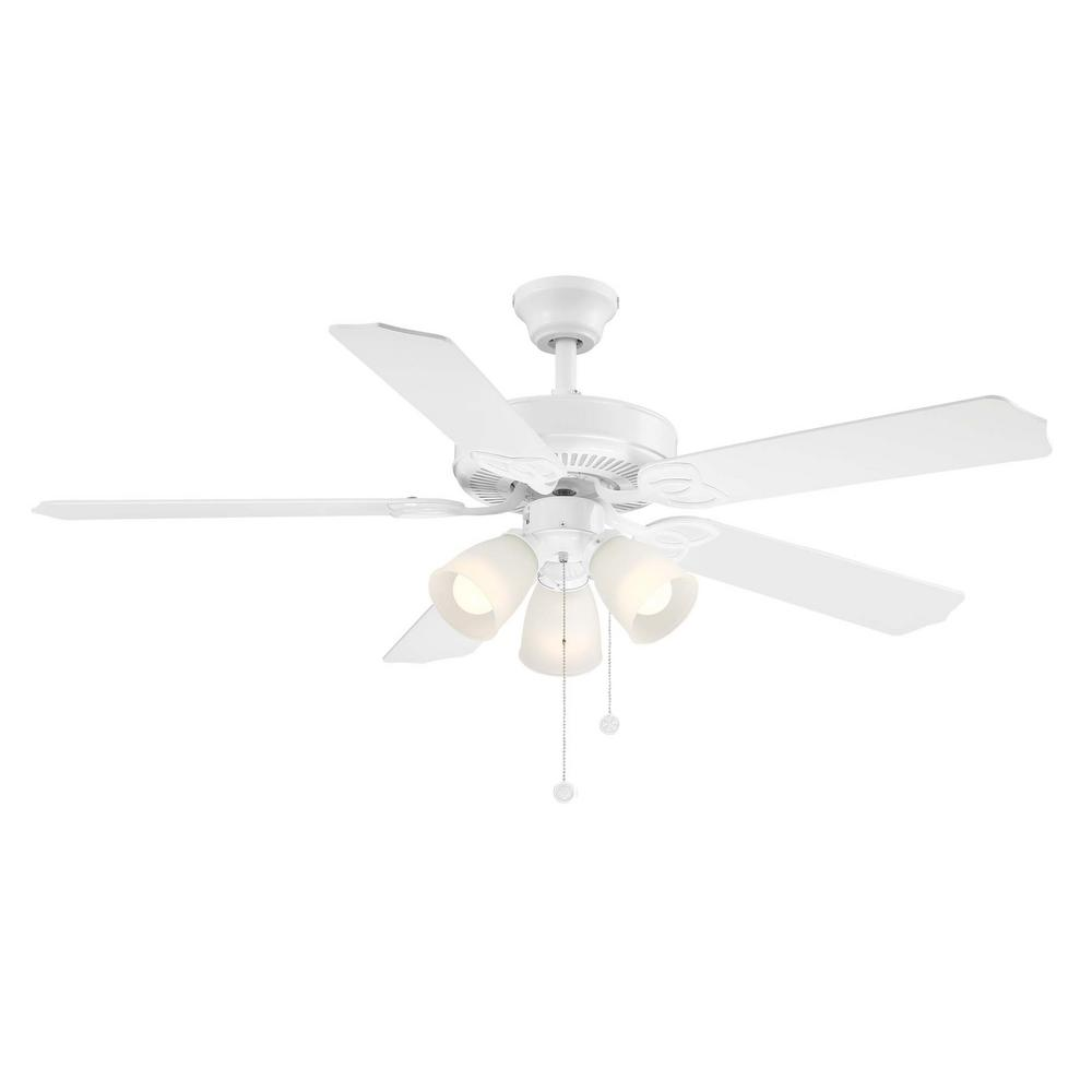 52 Quot White 5 Blades 3 Speed Reversible Blade Indoor Ceiling