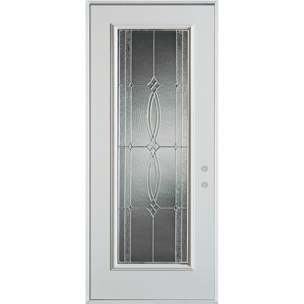 32 in. x 80 in. Diamanti Classic Zinc Full Lite Painted