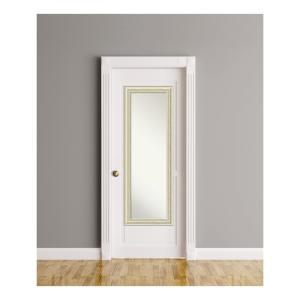 Country White Wash Wood 19 In. W X 53 In. H On The Door