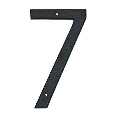10 in. Textured House Number 7