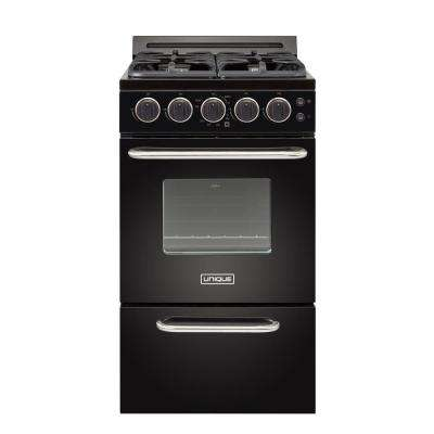 Classic Plus 20 in. 2.3 cu. ft. Gas Convection Range Sealed Burners in Black