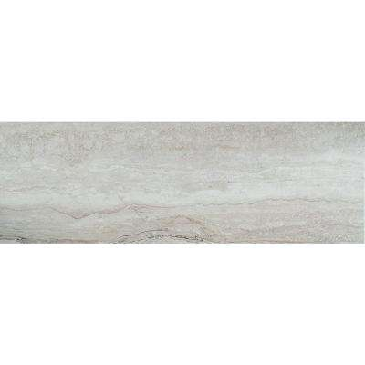 Isabella Piazza Silver 4-1/4 in. x 12-3/4 in. Matte Ceramic Wall Tile (15.15 sq. ft. / case)