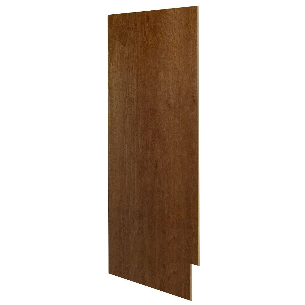 Hampton Bay 0.1875x34.5x23.25 in. Matching Base Cabinet End Panel in Cognac