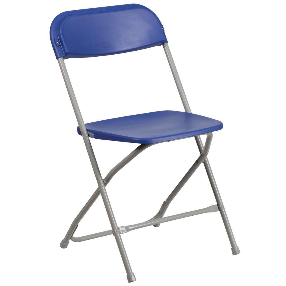 Blue Metal Utility Chair