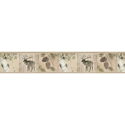 Tarpon Birch River Wallpaper Border