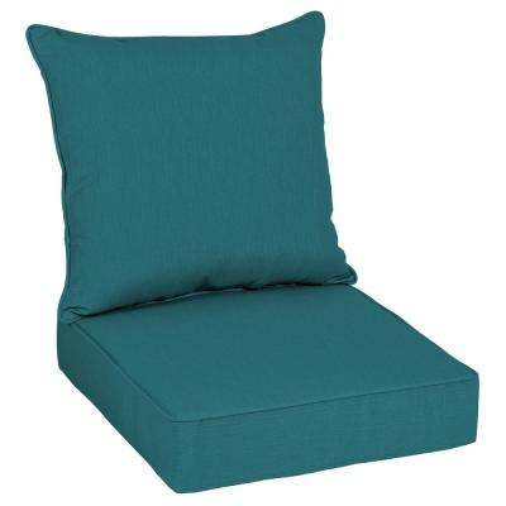 Sunbrella Spectrum Peacock Outdoor Lounge Chair Cushion