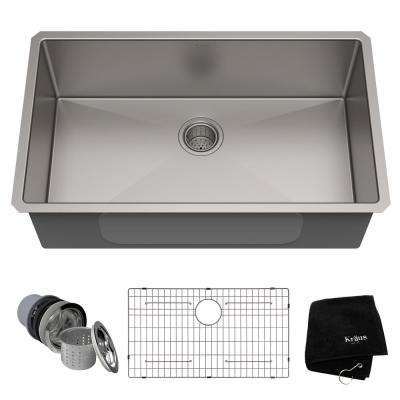 Standart PRO 32in. 16 Gauge Undermount Single Bowl Stainless Steel Kitchen Sink