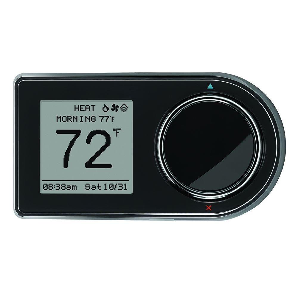 7 Day Wi Fi Programmable Thermostat In Black