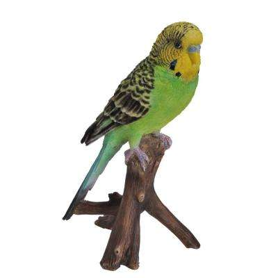 Budgie on Branch Statue