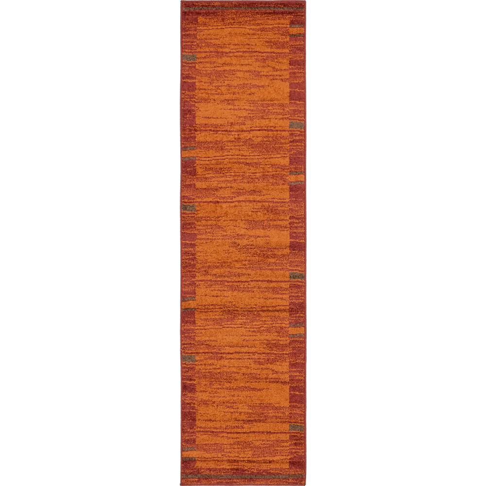 Autumn Foilage Terracotta 2' 6 x 10' 0 Runner Rug