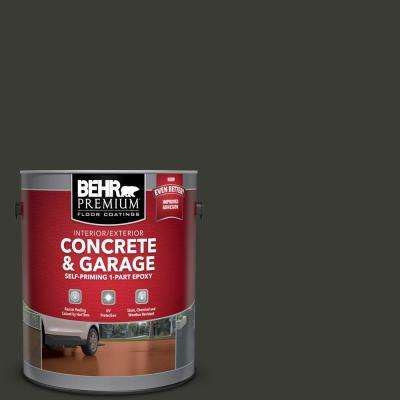 1 Gal. #ECC-10-2 Jet Black Self-Priming 1-Part Epoxy Satin Interior/Exterior Concrete and Garage Floor Paint