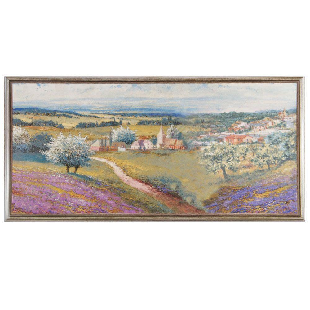 Monet Noce Decor 9-7/8 in. x 19-5/8 in. Ceramic Wall Tile