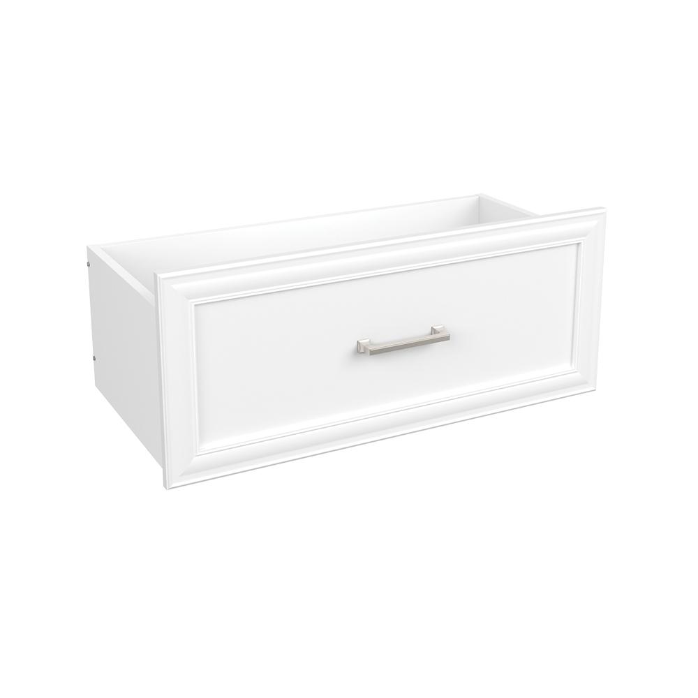 Easentials 12 in. H x 30 in. W White Melamine Traditional