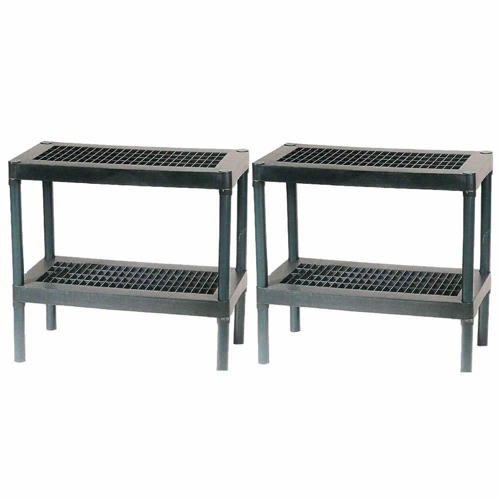 Rion Greenhouse 2-Tier Staging Bench (2-Pack)-DISCONTINUED