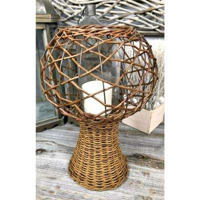Willow Basket Candle Holder Stand