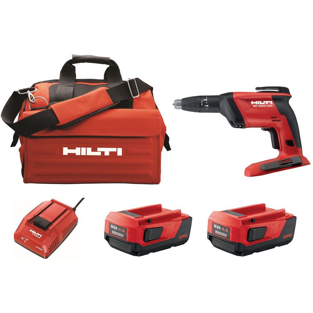 "Hilti Drywall Screwdriver Cordless Screw Gun 22V Lithium Ion 1//4/"" Hex Tool Only"