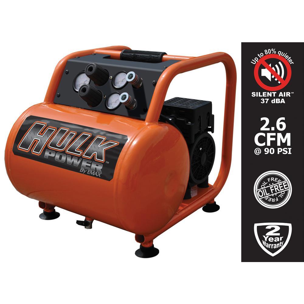 5 Gal. 1 HP Portable Electric-Powered Hotdog Silent Air Compressor