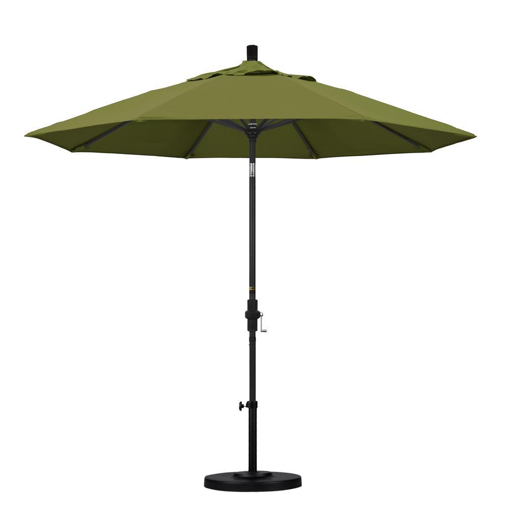 California Umbrella 9 ft. Aluminum Collar Tilt Patio Umbrella in Palm Pacifica