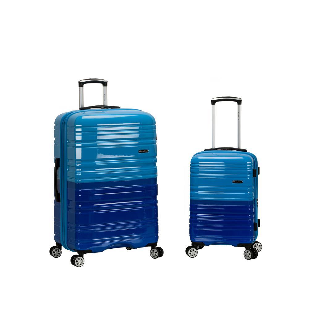 2Tone Blue Expandable 2-Piece Hardside Spinner Luggage Set