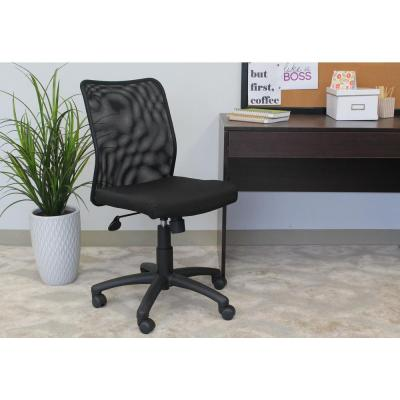 HomePro Mesh Task Chair. Black Mesh Back and Black linear Mesh frabric seat. Pneumatic Lift.