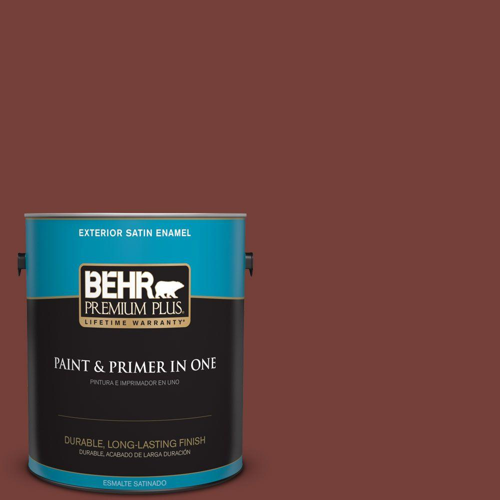 1 gal. #BXC-76 Florence Red Satin Enamel Exterior Paint and Primer
