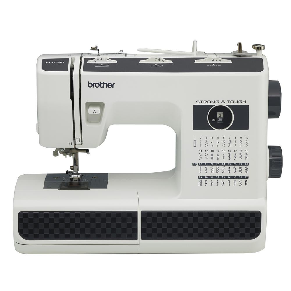 Brother 37-Stitch Sewing Machine, White/Black
