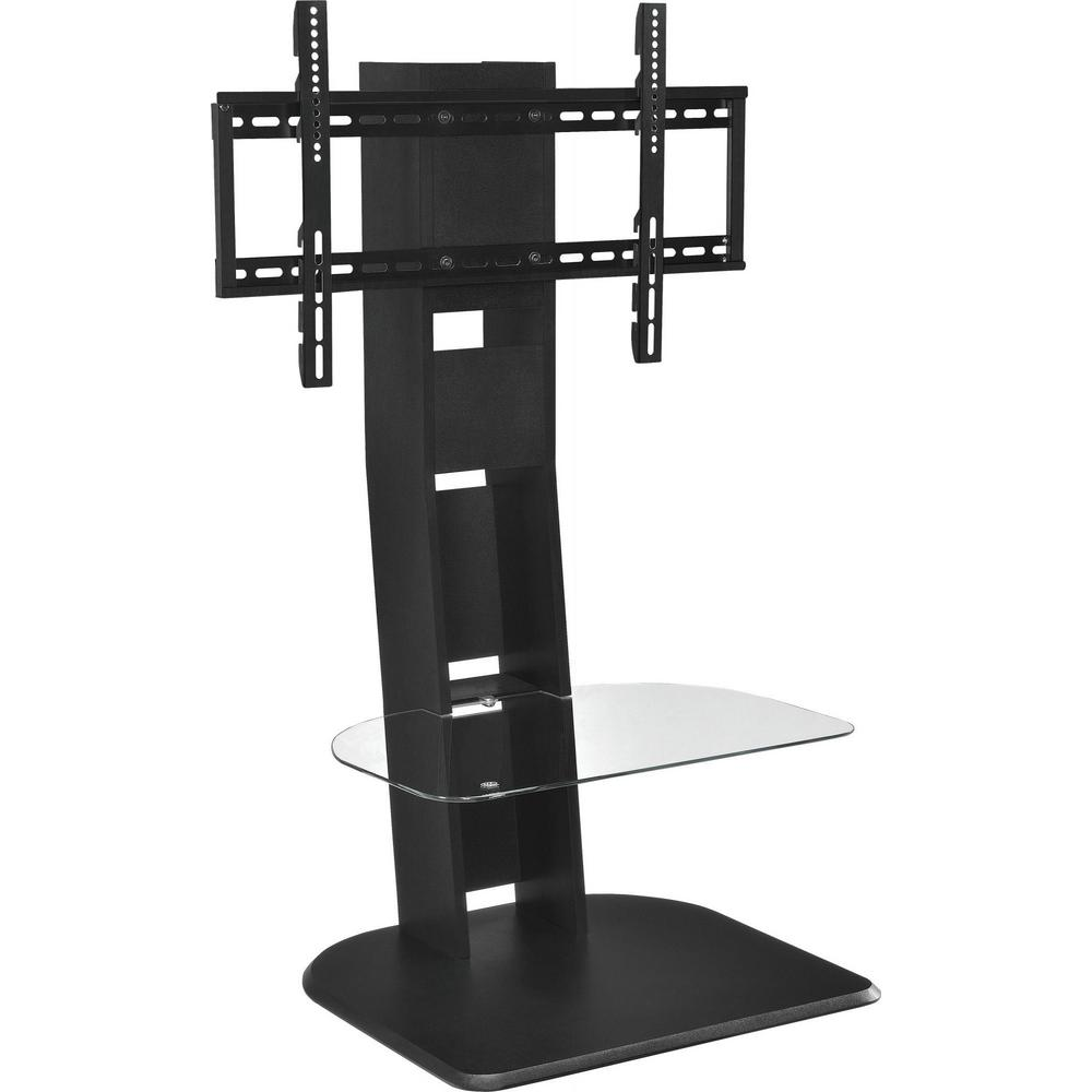 Ameriwood Park Black 50 In Tv Stand With Mount Hd19747 The Home Depot