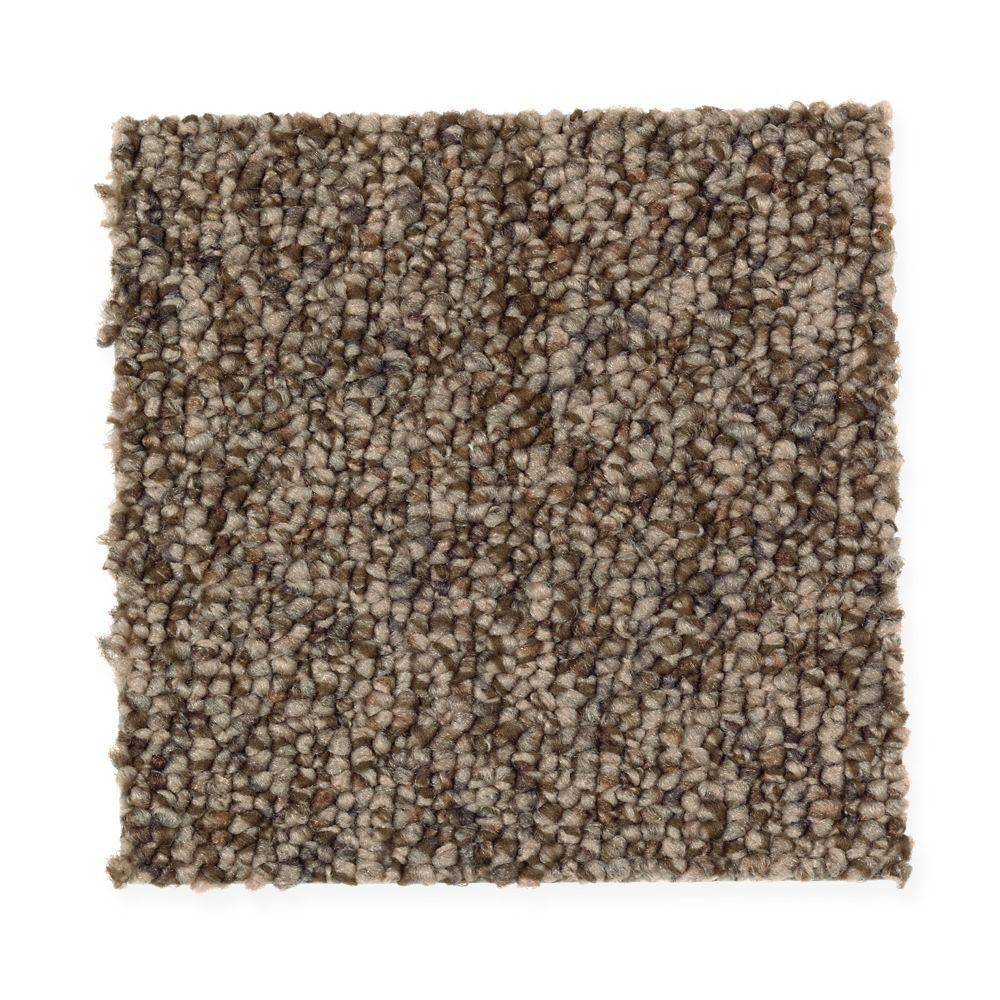 Carpet Sample-Smoke Trail - Color Rich Maple Berber 8 in x 8 in