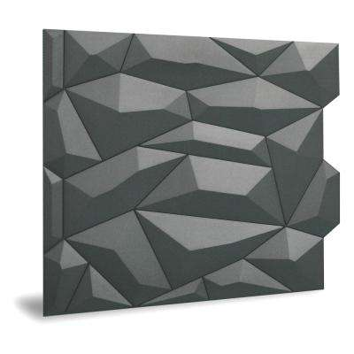 24 in. x 24 in. Glacier Decorative Vinyl Wall Paneling in Smoked Gray