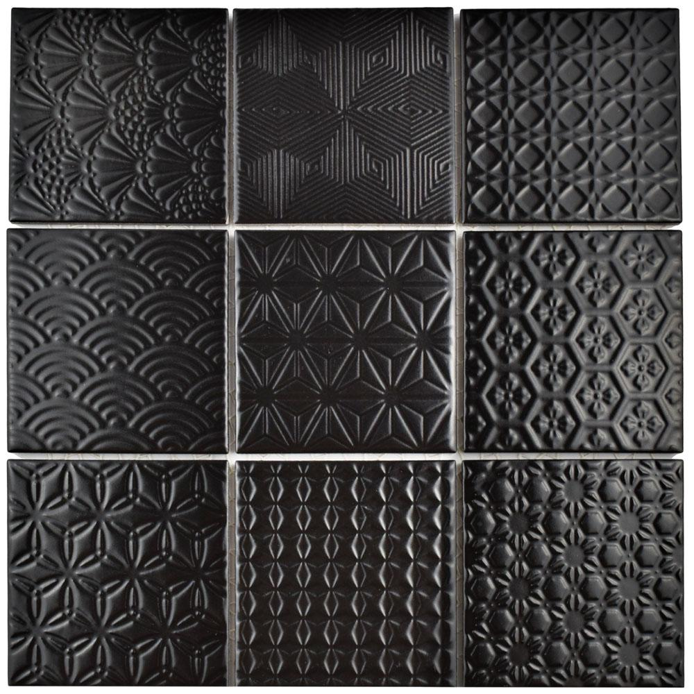Merola Tile Spirit Black 11 5 8 In X