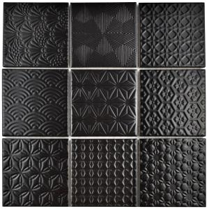 Merola Tile Spirit Black 11 5 8 In X 11 5 8 In X 6 Mm