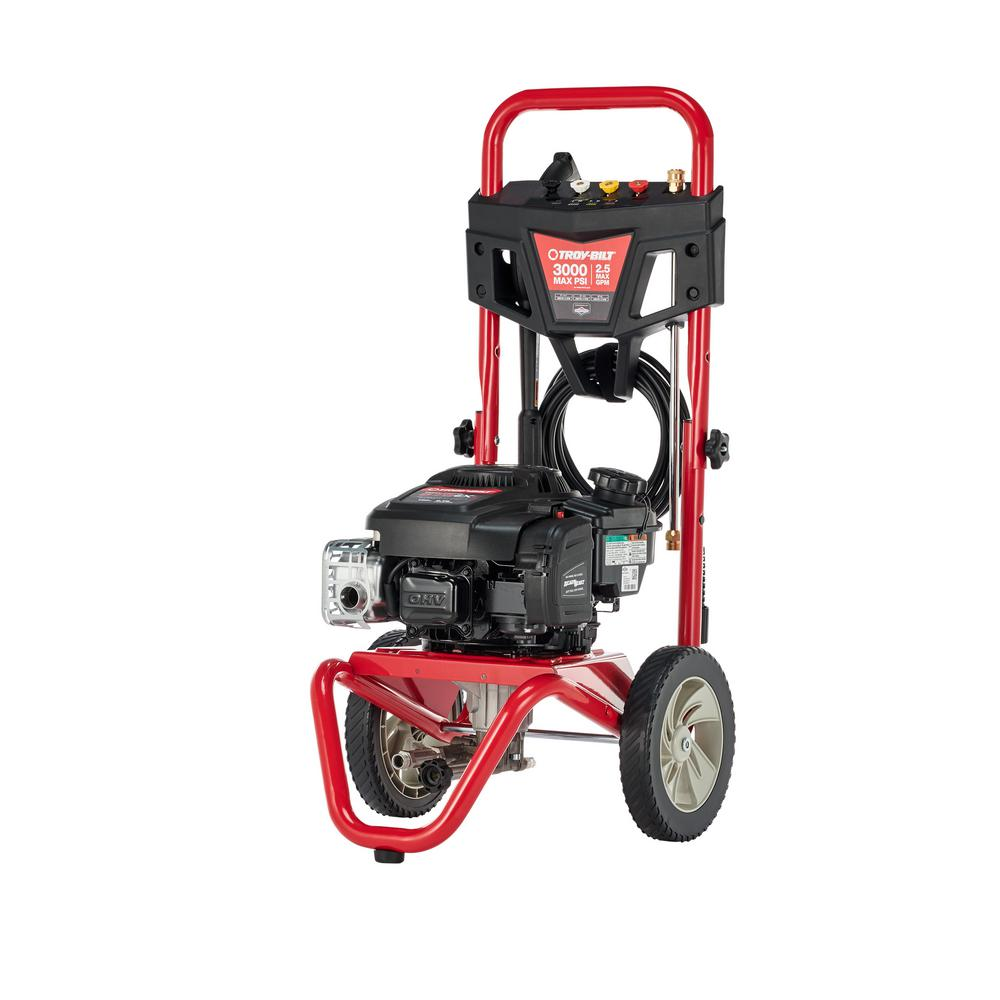 Troy Bilt 3000 Psi 2 5 Gpm Gas Pressure Washer With Briggs And Stratton 875 Exi Series Engine