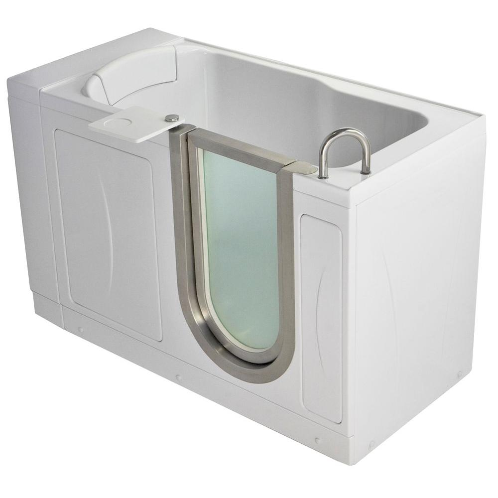 Ella Pee 4 33 Ft X 28 In Acrylic Walk Soaking Bathtub